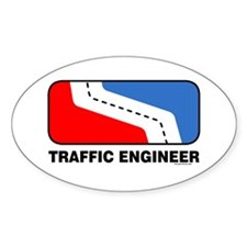 Traffic Engineer Oval Decal