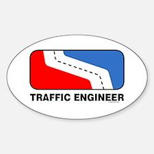 Traffic Engineer Oval Decal