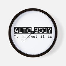 Auto Body Is Wall Clock