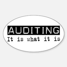 Auditing Is Oval Sticker (10 pk)