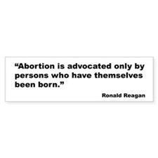 Reagan Anti Abortion Quote Bumper Bumper Sticker
