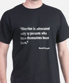 Reagan Anti Abortion Quote (Front) T-Shirt