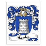 Chambon Family Crest Small Poster