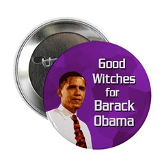 Good Witches for Obama button
