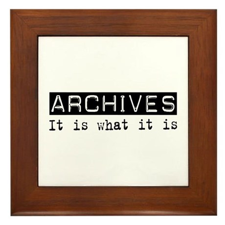 Archives Is Framed Tile