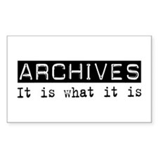 Archives Is Rectangle Decal
