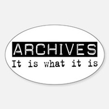 Archives Is Oval Decal