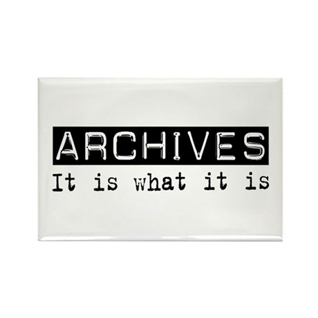 Archives Is Rectangle Magnet
