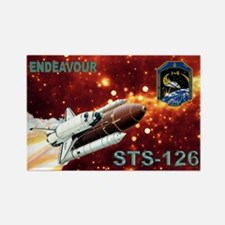 Mission Poster STS 126 Rectangle Magnet