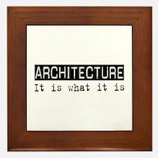 Architecture Is Framed Tile