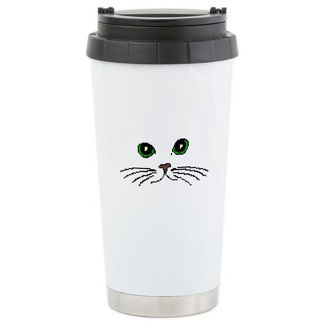 Cats Face Stainless Steel Travel Mug