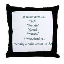 Homebirth Advocacy Throw Pillow