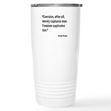 Reagan Freedom Quote Travel Mug