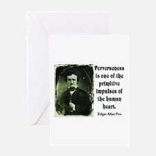 POE PERVERSENESS QUOTE Greeting Card