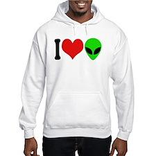 I Love Aliens (design) Hoodie