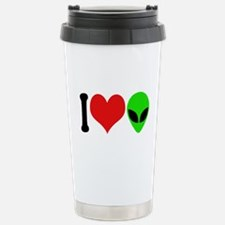 I Love Aliens (design) Stainless Steel Travel Mug