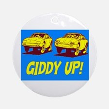 GIDDY UP!! Ornament (Round)