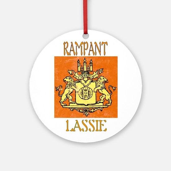 RAMPANT LASSIE Ornament (Round)