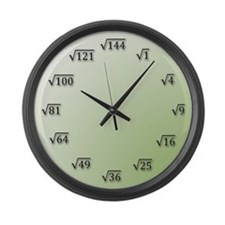 Square Root Large Wall Clock
