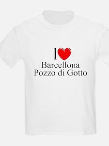 """""""I Love (Heart) Barcellona Pozzi di Gotto"""" T-Shirt"""