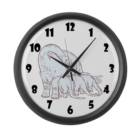 Dinosaurs Family Large Wall Clock