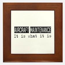 Aircraft Maintenance Is Framed Tile