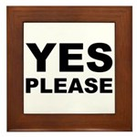 Say Please With This Framed Tile