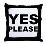 Say Please With This Throw Pillow
