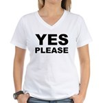 Say Please With This Women's V-Neck T-Shirt