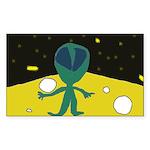Piper's Alien Rectangle Sticker
