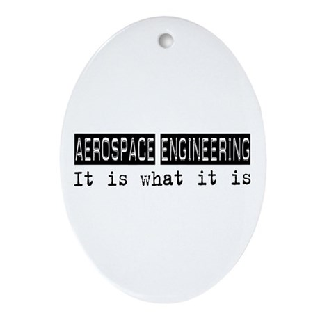 Aerospace Engineering Is Oval Ornament