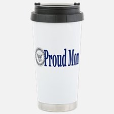 Proud Mom (Navy) Stainless Steel Travel Mug