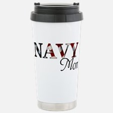 Navy Mom Stainless Steel Travel Mug