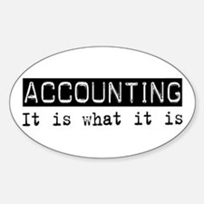 Accounting Is Oval Decal