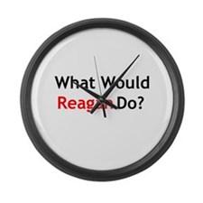 What Would Reagan Do? Large Wall Clock