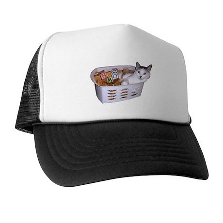 Kitty Blocks Trucker Hat