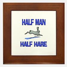 Half Man Half Hare Framed Tile