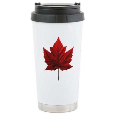 Canada Maple Leaf Stainless Steel Travel Mug