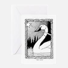 'Swan Magic' Greeting Card