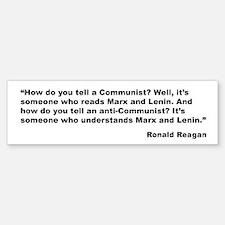 Reagan Communist Quote Bumper Bumper Bumper Sticker