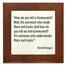 Reagan Communist Quote Framed Tile