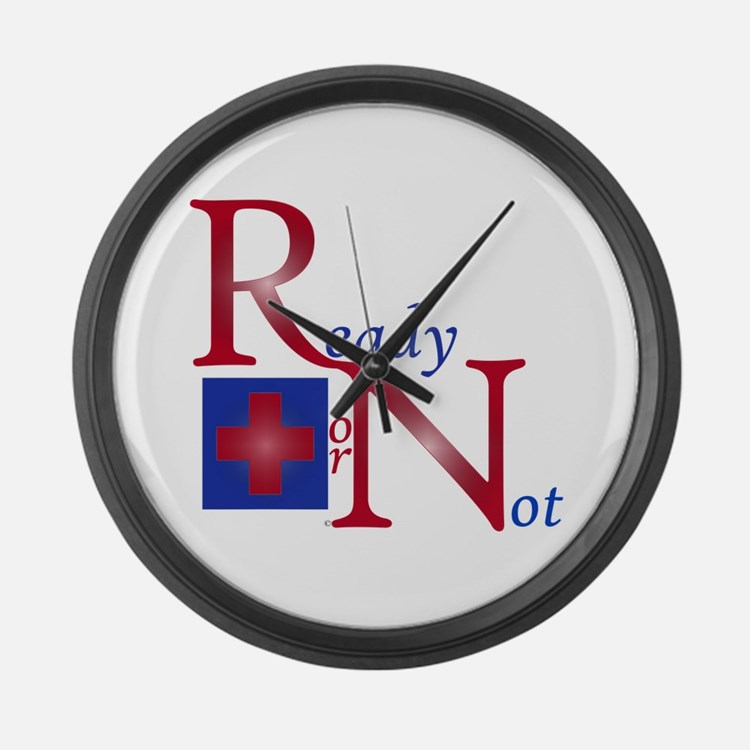 RN Ready of Not Large Wall Clock