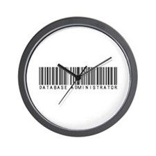 Database Administrator Barcode Wall Clock