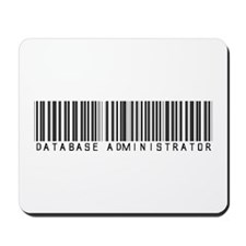 Database Administrator Barcode Mousepad