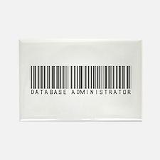Database Administrator Barcode Rectangle Magnet