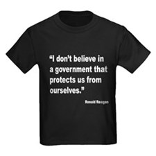 Reagan Government Quote (Front) T