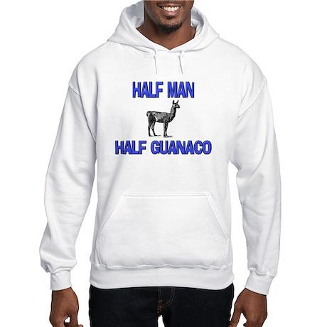 Half Man Half Guanaco Hooded Sweatshirt