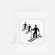 Ski Icon Greeting Cards (Pk of 10)