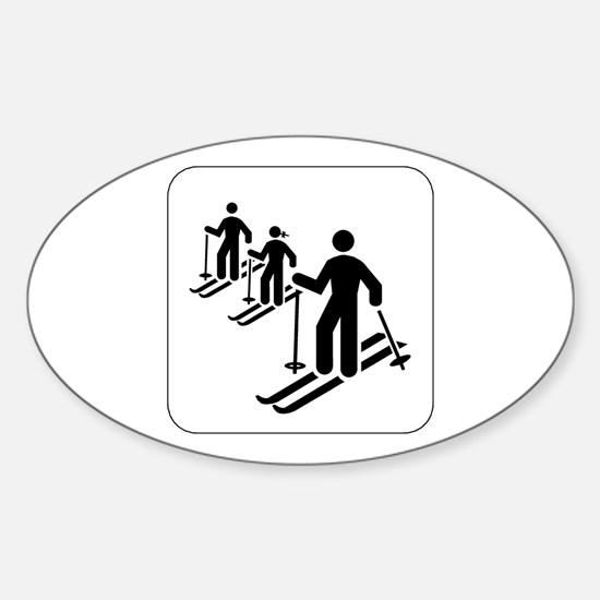Ski Icon Oval Decal