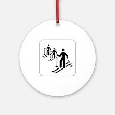 Ski Icon Keepsake (Round)